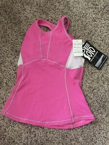 Brand new with tags, pink DeSoto triathlon top, women's size small