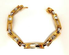 Mens Kinetic Sliding Geometric Pattern Bracelet 14 Karat