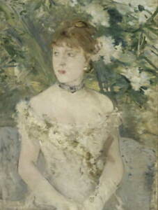 Berthe Morisot Young Girl in a Ball Gown Poster Reproduction Giclee Canvas Print