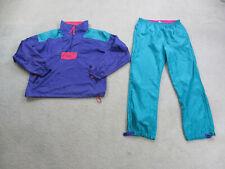 VINTAGE Columbia Track Suit Adult Medium Blue Purple Jacket Pants Mens 90s