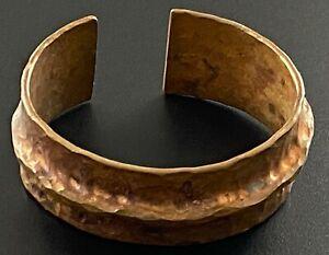 Copper Cuff Bracelet Hammered Copper 62 grams NICE #500