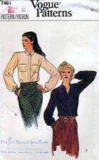 Vogue 7461 Vintage BLOUSE Sewing Pattern Uncut Size 12