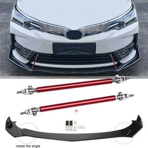 For Toyota Corolla 2009-2021 Car Front Bumper Lip Splitter Spoiler + Strut Rods