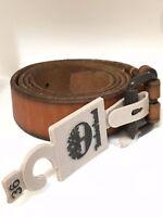Timberland Men's S01 Buffalo Leather Keeper Belt (Retail $55)
