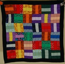 Colorful Vintage Roman Stripe Patchwork Crib Quilt ~Classic Design!
