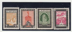 LETTLAND.1933 HILFFONDS für VERUNGLÜCKTE FLIEGER.MI.NR.215-218 A