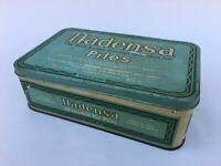 Vintage Hadensa Piles Ointment Ad Litho Tin Box Germany Collectible