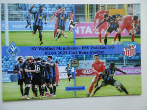 Foto Collage SV Waldhof Mannheim FSV Zwickau 3.Liga