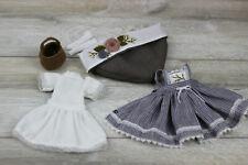 Blythe doll Dress Bottom dress Cap Socks Bag outfit clothes 1/6 30 cm