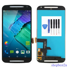 For Motorola Moto G2 G 2nd XT1063 1064 LCD Screen Touch Digitizer Assembly Black