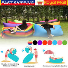 Lazy Inflatable Air Bed Lounger Couch Chair Sofa Bag Hangout Camping Beach UK