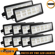 10X 1000W LED Flood Light Warm White Outdoor Spotlight Landscape Garden Yard
