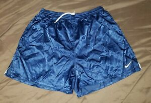 Nike Soccer Shiny Glanz Shorts XL, Nylon Satin Running Vintage Stadium Running