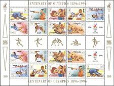 Mongolia 1996 Olympic Games/Sports/Cycling/Archery/Horses/Shooting 18v sht s5412