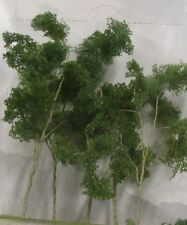 """JTT Scenery Products 95618 - O Scale - Woods Edge Trees Green 4"""" - 5.5"""" 5/pk"""