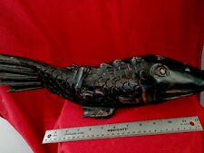 VINTAGE HAND CARVED WOOD FISH FIGURE----16 inch