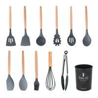 Set di pentole in silicone per utensili da cucina da 12 pezzi Set di spatole in