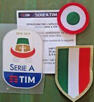 patch toppa JUVE SERIE A TIM 2018 2019 + SCUDETTO stoffa + tim cup coppa italia