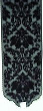 Heritage Damask14x34 Black Lace Table Runner Heritage Lace