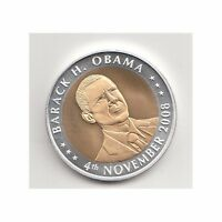 USA Medaille Barack H. Obama November 2008 Bimetall Nr. 28/5/16/411
