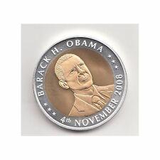 USA Medaille Barack H. Obama November 2008 Bimetall Nr. 28/5/16/411
