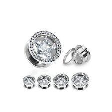 Stone 0g (8 mm) Gauge (Thickness) Piercing Jewellery