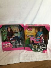 Barbie 1996 Share A Smile And Photographer Becky With Wheelchair MIB