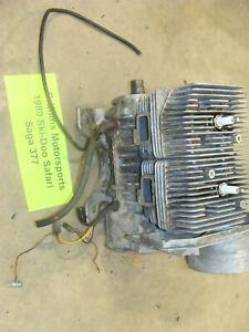 1989-93 SKI-DOO SAFARI SAGA 377 electro motor engine cylinder crank NICE running