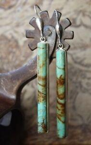 Boho Tibetan 925 Silver Turquoise Dangle Drop Hook Earring Women Vintage Jewelry