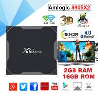 X96 Max Android 8.1 WiFi 4K TV BOX Quad Core Amlogic S905X2 2+16G Media Streamer