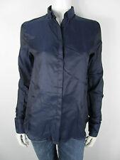 D&G Dolce&Gabbana Bluse Blouse Overhemd Top Shirt SS0411 Neu Blau 36 S M