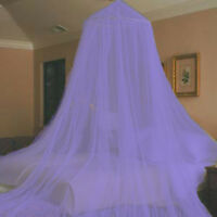 PURPLE COLOR HOOP BED CANOPY MOSQUITO NET TWIN - QUEEN FREE SHIPPING FROM USA