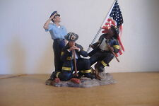 ~A HERO'S SALUTE~HOME INTERIORS POLICEMAN & FIREMEN FIGURINE~POCKETFUL OF HOPE~
