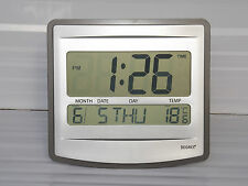 DESK/WALL DIGITAL CLOCK MONTH DATE DAY AND TEMPERATURE