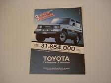 advertising Pubblicità 1989 TOYOTA LJ70 LJ 70