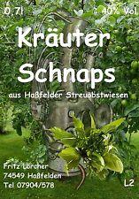 Obstbrand Kräuterschnaps  je 0,7l  40 %