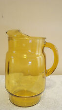 Vintage Gold Water, Juice, Tea, Glass Pitcher, 10""