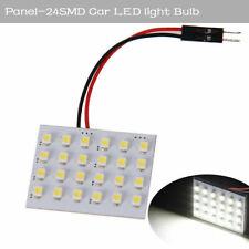 10x 24SMD 5050 White Panel T10 Festoon Dome License Plate LED Interior Light