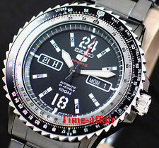SEIKO SRP355J1 MENS AUTOMATIC FLIGHT SLIDE RULE BLACK DIAL WATCH MADE IN JAPAN