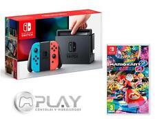 NINTENDO SWITCH Consola Azul/Rojo Neón 32Gb + Mario Kart 8 Deluxe