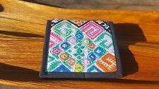 Two folded unisex huipil guatemala wallet chichi hand embroider many colors