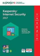 Kaspersky Internet Security 2017 3 PC / Geräte 2 Jahre Vollversion