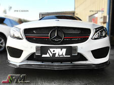 For 2015+ W205 C300 C400 AMG Sports Bumper only JPM Carbon Fiber Front Lip