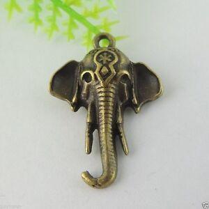 10PCS Antique Bronze Alloy 24*18*4mm Elephant Charms Pendant Jewelry Accessories