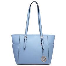 Ladies Designer PU Leather Structured Shoulder Handbag Reversible Tote