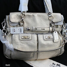 NWT COACH CHELSEA FLAGSHIP GOLD LEATHER SATCHEL CARRYALL TOTE SHOULDER BAG $798