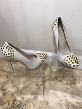 Louise Goldin For Topshop Heels Cream white swan With Studs size 40