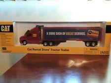 NORSCOT Cat Rental Store Tractor Trailer 1:50 SCALE  Caterpillar #55106 NIB