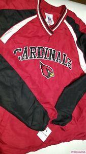 New Arizona Cardinals NFL Red V-Neck Men's Pullover Light Jacket Size Large