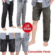 MENS CONVERTIBLE PANTS Breathable QUICK DRY ZIP OFF SHORTS HIKING TROUSERS NEW